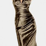 golden style christmas dress