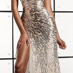 silver style evening dress