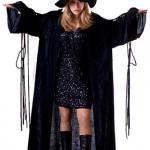 black witch halloween dress