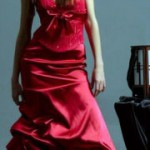 red occasion dress