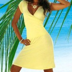 fresh yellow summer dress